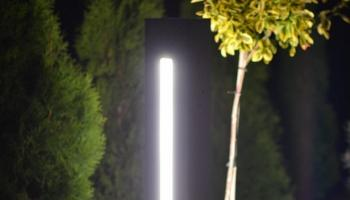 Betonowa lampa do ogrodu