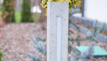 Lampa z betonu do ogrodu
