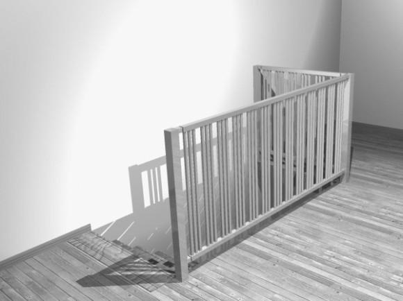 Jaga - Grzejnik-barierka schodów