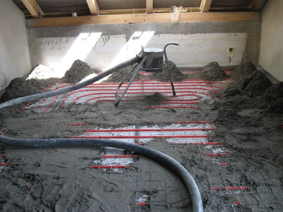 Montaż systemu ogrzewania podłogowego - zdjęcie z budowy -5