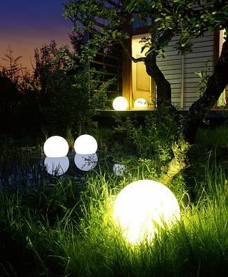 Kule podświetlane wodoodporne do ogrodu