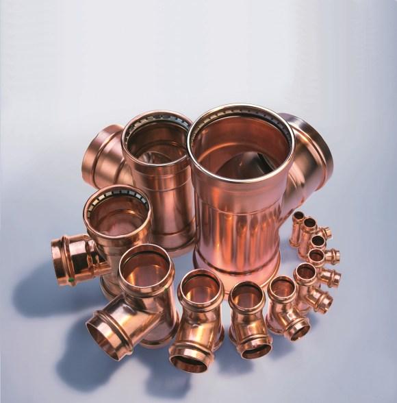 Viega - System Profipress oferuje ponad 800 elementów o średnicach od 12 do 108 mm, do najróżniejszych zastosowań