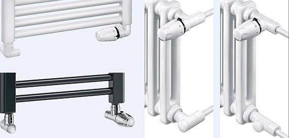 Heimeier -  Zestawy zawierające zawory termostatyczne i grzejnikowe zawory odcinające - Design-Edition