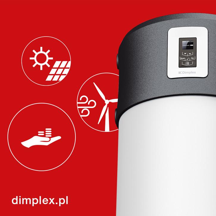 DHW 400+ pompa ciepła do c.w.u. z regulacją cyfrową Dimplex