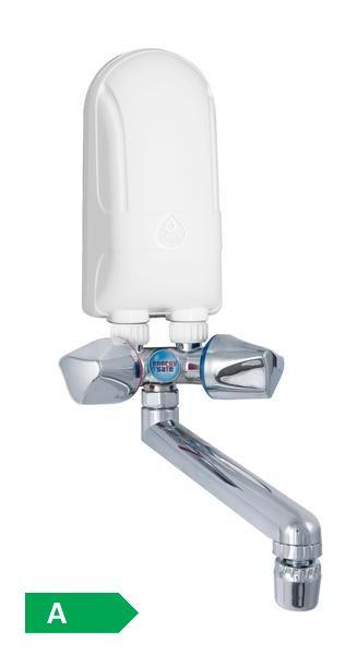 Elektryczny przepływowy ogrzewacz nadumywalkowy Dafi - wylewka chromowana