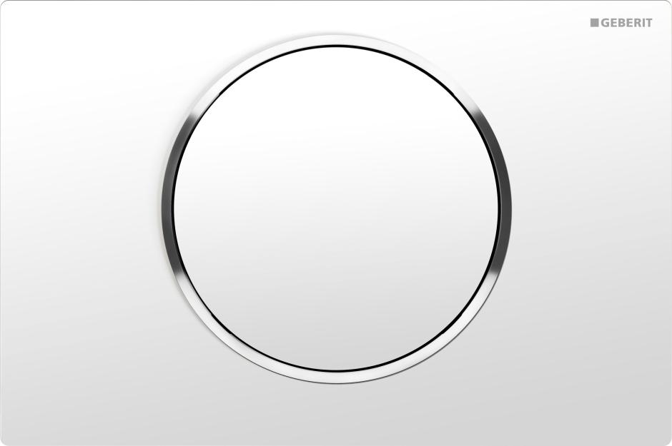 Przycisk uruchamiający Sigma10 z matową powłoką w kolorze białym
