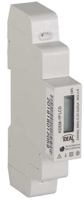 KDEM-1P LCD - 1-fazowy licznik zużycia energii elektrycznej