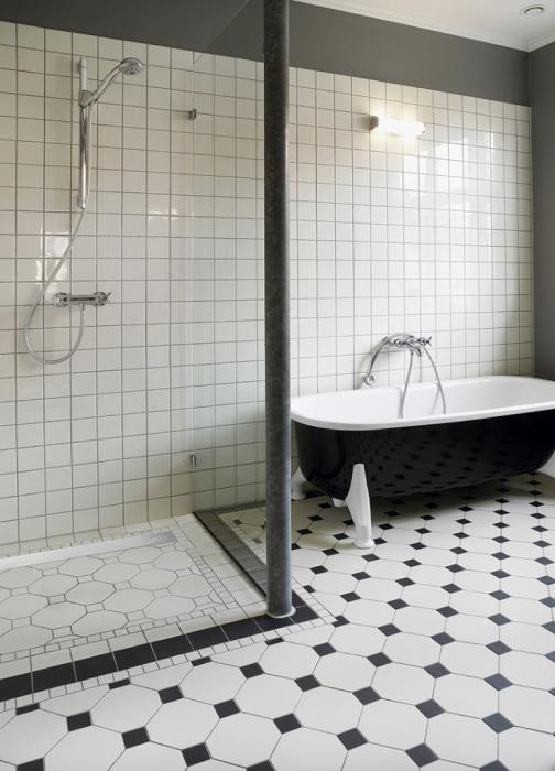 Prysznic bez brodzika z odwodnieniem prostym liniowym VABO