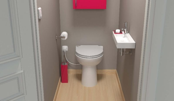 WC z wbudowanym rozdrabniaczem - Sanicompact C43 Silence ECO+