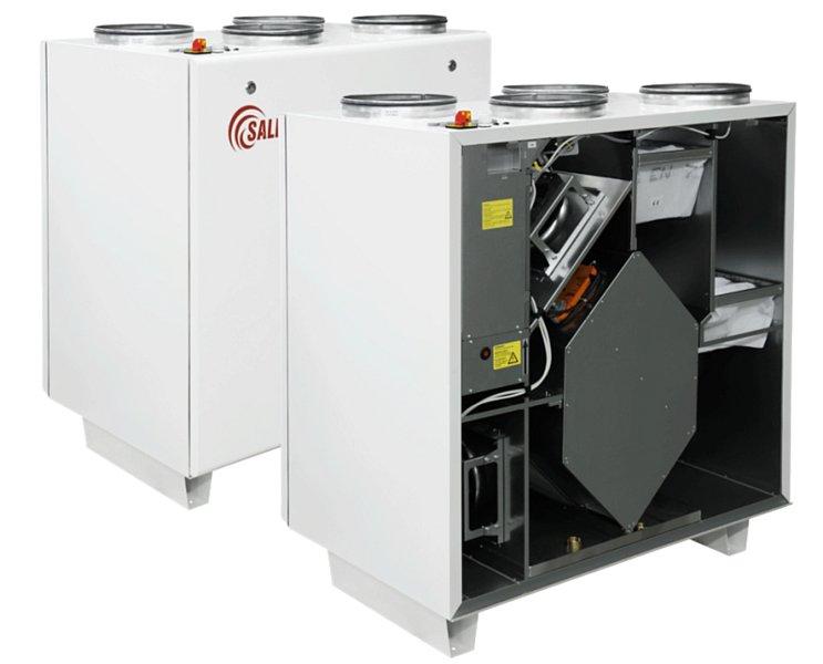 Centrale z wymiennikiem obrotowym pionowe RIRS